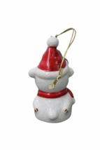 Set of (7) Genuine Bone China Christmas Sheep Figurine Ornament Lot Figure image 4