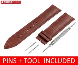 For LONGINES Watch Brown Leather Strap Band Buckle 18 19 20 21 22mm - $12.18