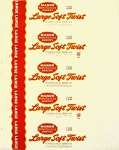 Vintage bread wrapper WONDER WHEAT dated 1950 Portland Oregon unused n-mint cond