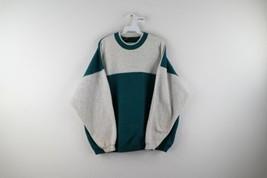 Vintage 90s Streetwear Mens 2XL Blank Color Block  Double Collar Sweatshirt USA - $59.35
