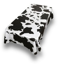 Tablecloth Table Cloth Vinyl Rectangle 52 x 70 Moo Cow Wipe Clean Cover NEW - $10.44