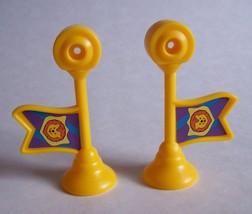 F P Little People Left & Right Lion Flag Fanfare Trumpet Princess Kingdom Castle - $9.99