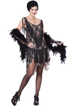 Gatsby Gal Roaring 20s Flapper Girl Fringe Dress Halloween Adult Costume - $29.99
