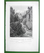 SWITZERLAND Rhine River Tunnel of the Rofflen - 1853 Antique Print - $7.65