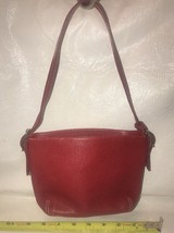 Coach Red leather wristlet, purse, handbag, clutch Z59 - $31.41 CAD