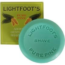 Lightfoot's Classic Pine British London Creme Shave Shaving Soap Men image 1