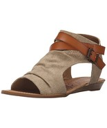 Blowfish Women's Balla Wedge Sandal, Desert Sand Rancher Canvas/Dyecut, ... - $31.32
