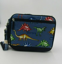 Pottery Barn Lunch Box Cold Pack Blue Multi Dinosaurs  Personalized Bower - $35.00