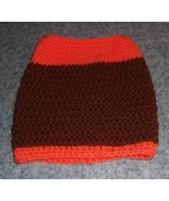 Brand New Hand Crocheted Brown Orange Dog Snood Neck Warmer 4 Dog Rescue... - $12.74