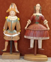 Wood Mannequin Figurines Girl and Boy - $177.21