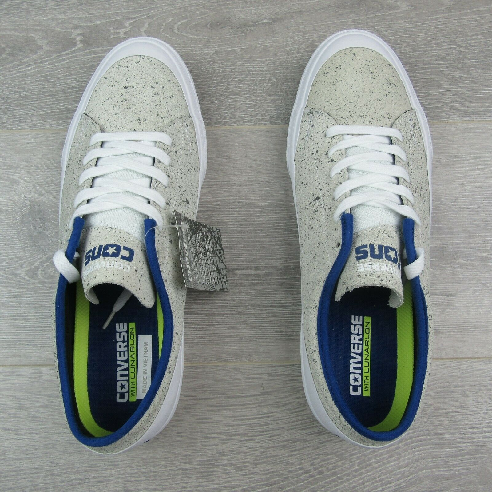 Converse Sumner OX Low White Blue Skate Shoes Mens Size 10.5 New 151429C
