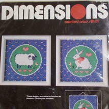 Dimensions Cross Stitch Kit 3604 Country Lamb Bunny Karen Avery 1986 - $24.74