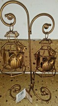 Metal Hanging Owl Candle Holder Tea Light Lantern Stand Harvest - $19.79