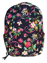Vera Bradley Laptop Backpack In Ribbons with Pi... - $89.93