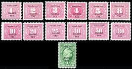 RG37-49, Mint VF Silver Tax Stamps - Very Fresh! Cat $785.00+ - Stuart Katz - $550.00
