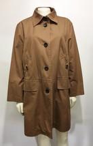 Bogner Womens 10US 40EU Brown Cotton Jacket Knee-Length 3/4 Sleeves - $131.81