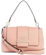 GUESS Tara Top Handle Flap Bag Pink small handbag crossbody B4HP - $89.95