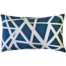 Pillow Decor - Bird's Nest Blue Throw Pillow 12x19 - £30.49 GBP