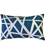 Pillow Decor - Bird's Nest Blue Throw Pillow 12x19 - $39.95