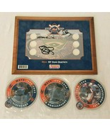 Mets NY State Quarters 2006 Dunkin Donuts Promo Signed Board with 3 Seal... - $29.99