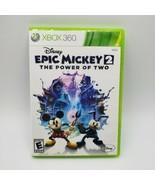 Disney Epic Mickey 2: The Power of Two (Microsoft Xbox 360, 2012) Family... - $7.82