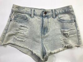 Forever 21 Distressed Denim Cutoff Women's Shorts Size 27 Light Blue - $14.85