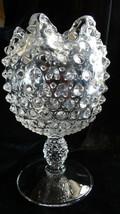 Vintage Duncan Miller Crystal Footed Hobnail Ivy Bowl Vase - $32.00