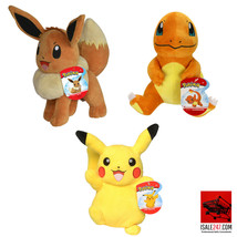 Pokemon 3 PK Pikachu Eevee Charmander (8 IN Plush) - $44.66