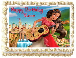 ELENA OF AVALOR Image Edible cake topper Birthday party decoration - $6.50+