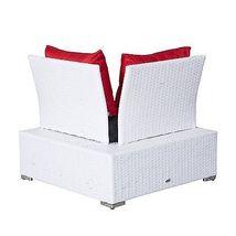 Luxury Wicker Garden Rattan Set Patio Sofa 2 Chairs Coffee Table Cushions White  image 4