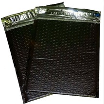 Uneekmailers 25 4x8 Inch Black Poly Bubble Mailer Self Seal Padded Envel... - $7.29