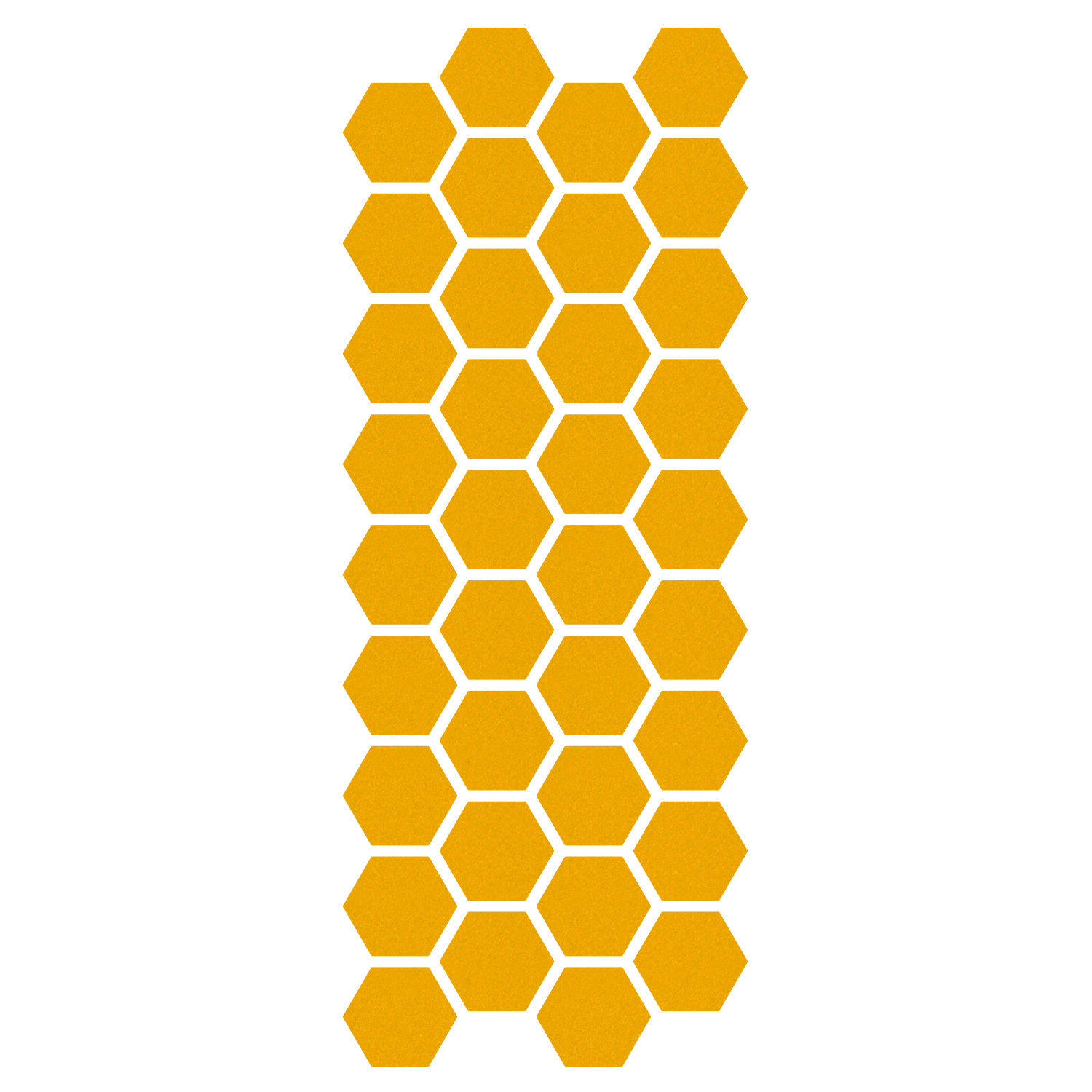 Primary image for LiteMark Reflective Yellow 1 Inch Hexagon Decals - Pack of 36