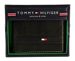 Tommy Hilfiger Men's Leather Credit Card Id Wallet Billfold Black 31TL22X023 image 1
