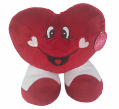 """Best Made Toys Valentines Red Heart 9"""" Plush With Feet & Tag - $13.60"""