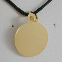 18K YELLOW GOLD ST SAINT FRANCIS FRANCESCO ASSISI MEDAL, MADE IN ITALY, 13 MM image 2