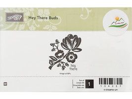 Stampin' Up! Hey There Buds Mounted Rubber Stamp #134357 image 1
