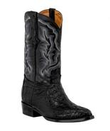 Mens Black Western Boots Crocodile Hornback Skin Real Leather Cowboy J Toe - €236,23 EUR