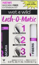 Wet N Wild Lash-O-Matic Mascara+Fiber Extension Kit C142A Very Black *Twin Pack* - $13.95