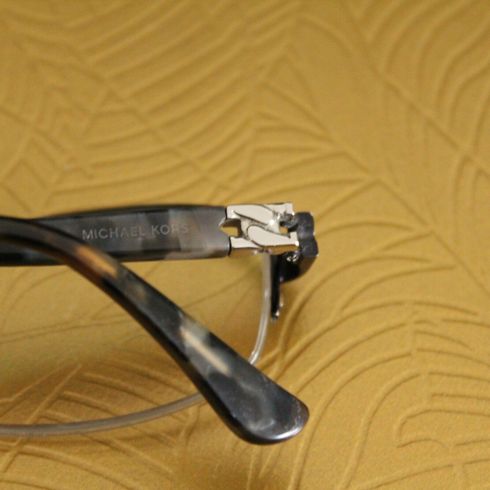 Michael Kors MK 494 001 Semi Rimless Black Marble RX Eyeglasses Frames 51 17 135