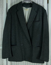 "LAURA ASHLEY Vintage Grey Double-Breasted Blazer UK12 M 43"" Bust Tailore... - $46.87"