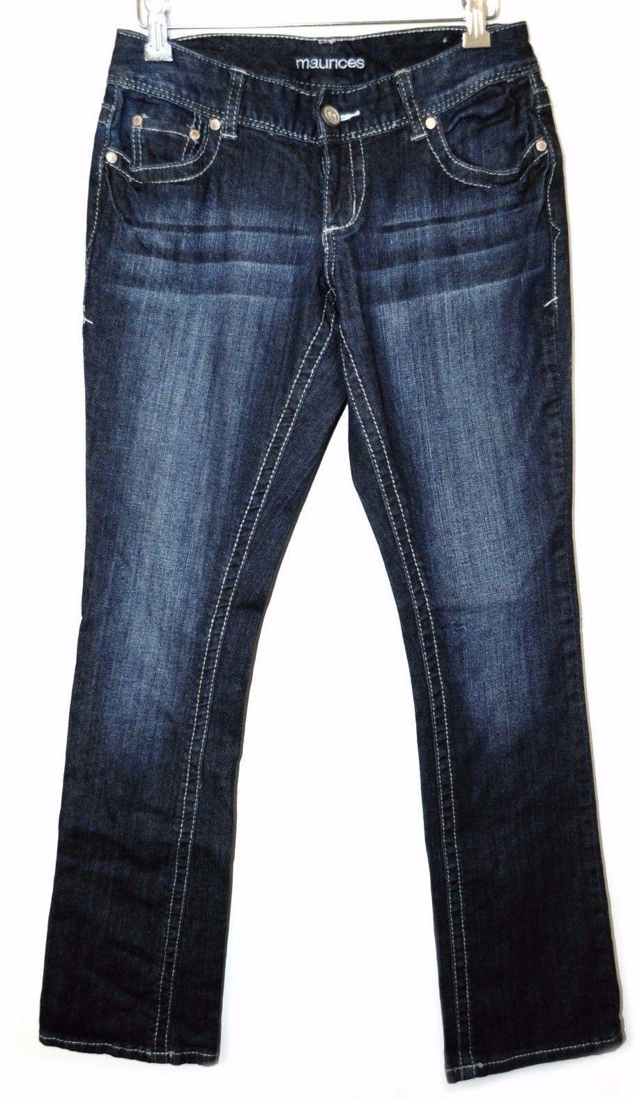 12c7fb2fc39 NEW MAURICES Original Fit Straight Denim Pants Plain Jeans Woman  1 2  Regular -  11.99