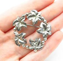 BB 925 Sterling Silver - Vintage Floral Wreath Designed Brooch Pin - BP4485 - $29.96