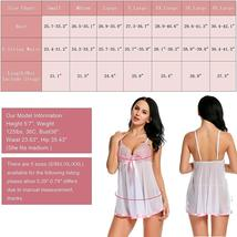 Women Lingerie Lace Babydoll Strap Chemise Mesh Sleepwear Set image 6