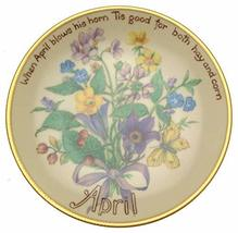 Bradford Exchange Davenport April Plate by Edith Holden - Inspired by The Countr - $36.95