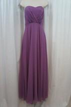Vera Wang Dress Sz 14 Lavender Purple Strapless Evening Formal Full Leng... - $196.90