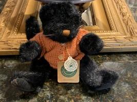 BOYDS BEAR ARCHIVE MRS. PARTRIDGE HALLOWEEN BLACK CAT SWEATER 919750 NEW... - $15.09