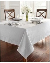 """Waterford Rigato Rectangular Tablecloth 52"""" x 70"""" ‑ Color Platinum  NEW - $42.06"""