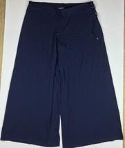 Lauren Ralph Lauren Pants Women Navy Blue Wide Legs Capri casual LRL Sz XXL - $59.99