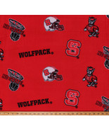 College North Carolina State University Wolfpack Fleece Fabric Print A50... - $15.49