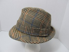 VINTAGE RESISTOL Self Conforming Tweed Wool Fedora Hat 7 1/4 Brown Hound... - $39.95